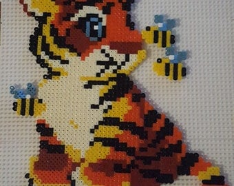 Tiger and bee decoration children