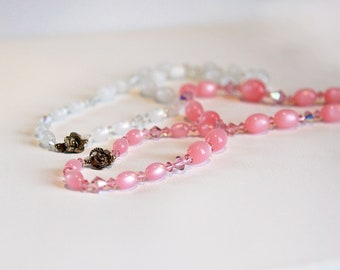 2 Vintage beaded necklaces