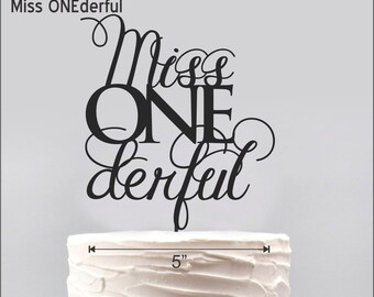 Miss ONEderful Cake Topper