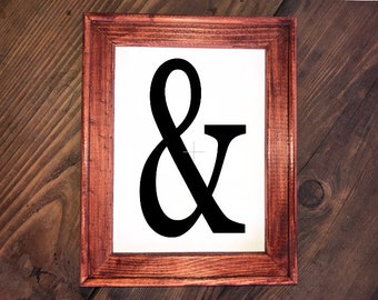 "Rustic ""&"" Reverse Canvas Sign"