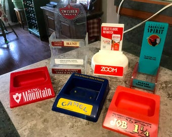 Vintage Advertising Tobacco Store Counter Top Display Items Qty of 6