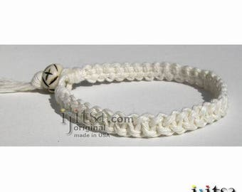 White Hemp Fancy Surfer Style Bracelet or Anklet