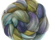 BFL handdyed wool roving top spinning or felting fiber 3.4 oz