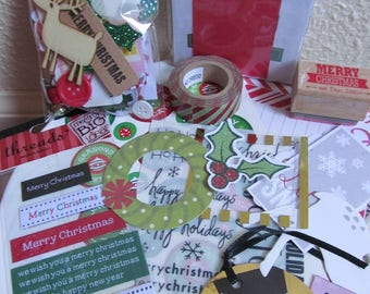 Christmas Inspiration Kit  ***Includes embellishments, stamps, and journal cards