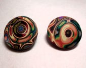 Faux Fordite Handmade Polymer Clay Buttons