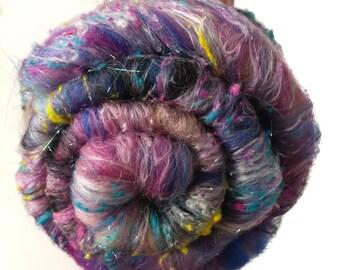 Smoothish Art Batt Set- 'J30-05'- 3.1 oz Spinning, Felting, Weaving, Papermaking Fiber