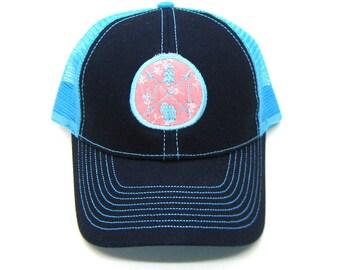Clearance - Sale - Gift - Gracie Designs Hat - WIS arrow design Trucker hat