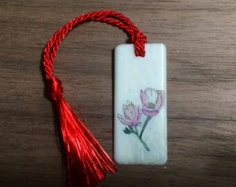 Magnolia Scrimshaw Bookmark