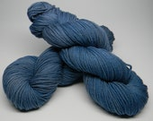 OOAK Cadet blue - Salsa Monkey worsted weight kettle dyed 100% Merino mid blue semi-solid one-of-a-kind