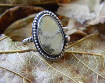 sweet damele turquoise ring - sterling silver size 9