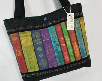 Vintage Library Shelf Books Librarian purse tote bag
