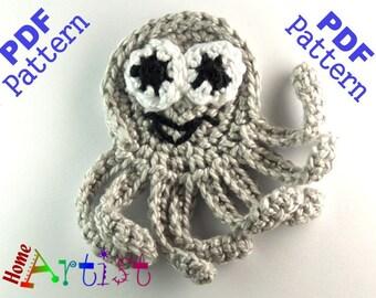 Octopus + Sea Star crochet Applique Pattern