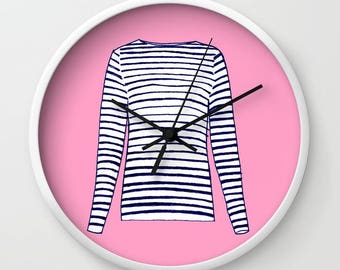 FRENCH STRIPED SHIRT Clock