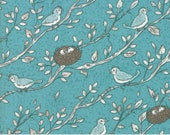 Nest - Birdsong in Pond : sku 5061-16 cotton quilting fabric by Lella Boutique for Moda Fabrics