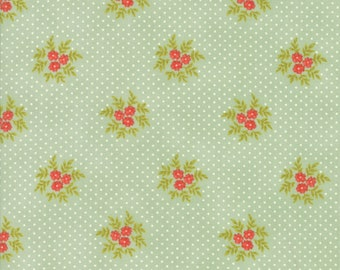 Ella and Ollie - Posies in Pond : sku 20307-14 cotton quilting fabric by Fig Tree and Co. for Moda Fabrics