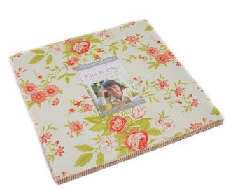 Ella and Ollie Layer Cake by Fig Tree and Co for Moda Fabrics, 42 10 inch squares