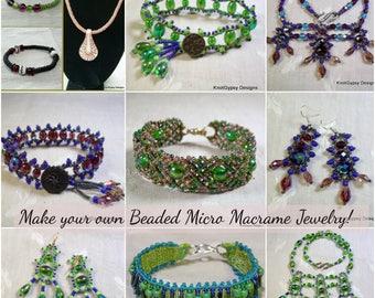 TUTORIALS - Beaded Micro Macrame Jewelry - Advanced Collection