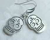 Day of the Dead Earrings Dangle Earrings Day of the Dead Jewelry Dia de los Muertos Earrings Dia de los Muertos Jewelry Sugar Skull Earrings