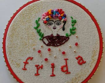Frida Embroidery Art