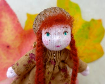 Waldorf Inspired Pixie Doll Pin