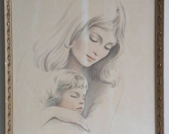 """Irene Spencer signed and numbered lithograph """"Contentment """"  64/350."""