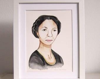 Art - Portrait Art - Portrait Painting - Kara Walker Portrait - Watercolor Art - Watercolor Portrait - Watercolor Painting - Kara Walker