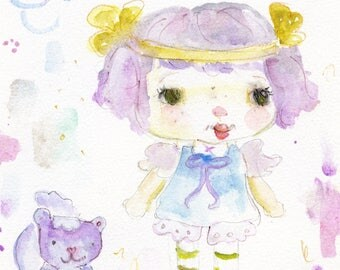 Angel Cake - art print by Mindy Lacefield