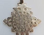 Large Ethiopian Coptic Cross, silver cross, Coptic Cross pendant, Ethiopian pendant
