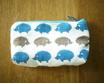 hedgehog linen pouch