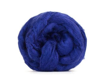 BLUE Bamboo Top Roving - 2 ounces to Spin, Felt, Blend, Create Fiber Art