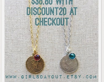Custom personalized charm necklace