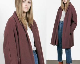 SALE - Plum Wool Coat