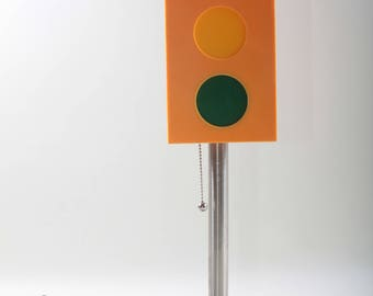 Traffic Light Lamp, Vintage, Red, Yellow, Green, Stop, Light,