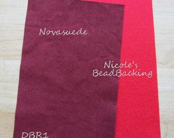 Novasuede Microfibor Fabric with Free Nicoles BeadBacking Brick Deep Red DBR1