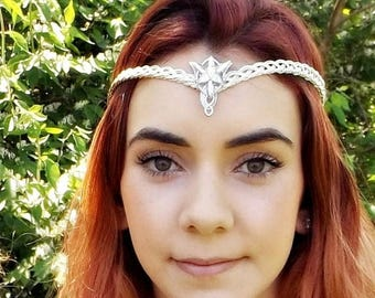 ON SALE Evenstar Arwen Elven Circlet Tiara Headdress
