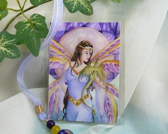 Fairy Art Bookmark ~ Dragon Art Bookmark ~ Fairy Dragon ~ Fantasy Art Bookmark ~ Fairy Bookmark ~ Dragon Bookmark ~ Fantasy Bookmark