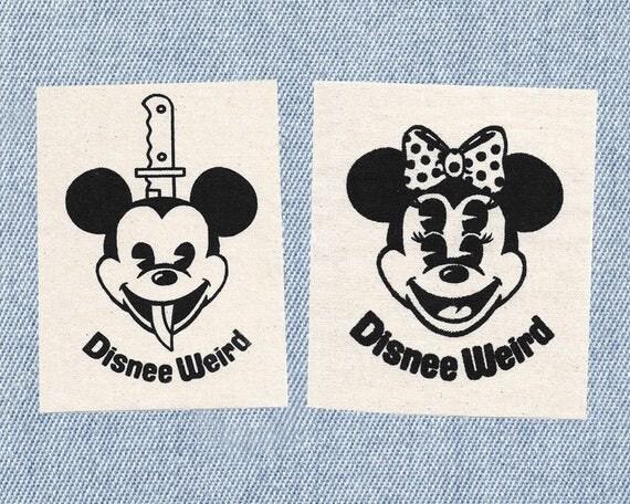 Disnee Weird Stitch-On Patches Set