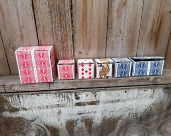 Upcycled Playing Card Gift Box - FREE SHIPPING