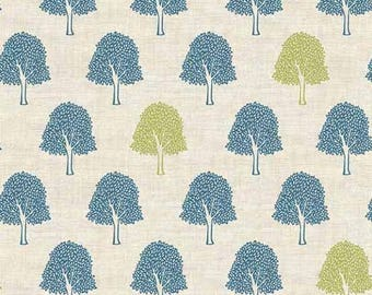 Makower UK for Andover FABRIC - Heartwood - Trees in Neutral
