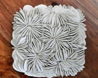 Mushroom Coral - Large Textured Wall Tile - Textured wall art  - Ceramic Wall Sculpture - Coastal Wall Art - Coastal Wall Decor