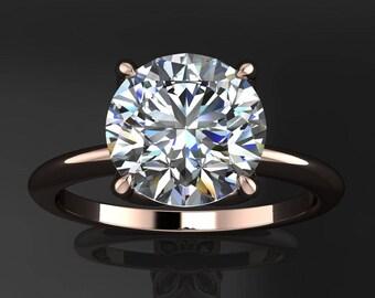 natalie ring - 2 carat round NEO moissanite engagement ring, colorless NEO moissanite