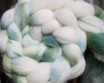 Kettle Dyed Falkland Wool Top.  Soft and easy to spin. 4oz  Braid. Spin. Felt. Roving. F175