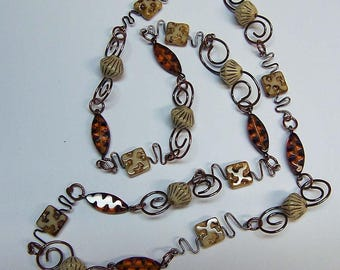 Necklace TUTORIAL and KIT - Tutorial and all materials needed -Download Pdf - Beginner - Step by Step