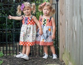 Baby Halloween Dress - Baby Dress- Baby Halloween Owl Outfit - Baby Halloween Outfit - Toddler Dress - Halloween Outfit -Halloween Dress