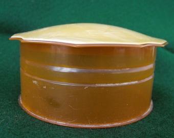 Vintage Powder Box, Celluloid, ca 1940s NT-143