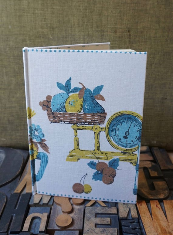Recipe Book - With a Vintage Linen Tablecloth Cover