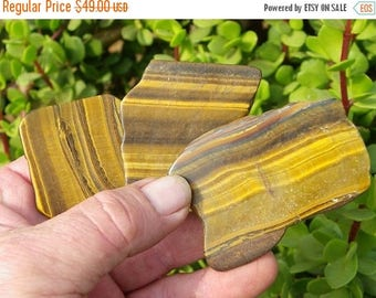 20% off Tigers Eye Slabs Jewelry Slabs Tigers Eye Pieces Polished Tigers Eye - 1 Pound
