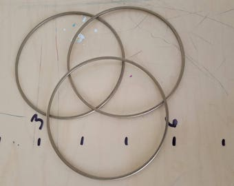 Brass bangles. Set of 3. 2mm wide round wire.