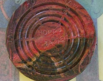 Official Hoppy Taw (R) Hopscotch Game Marker / Retro / Swirl of Colors / Summer Time Fun / Vintage Style / Since 1953
