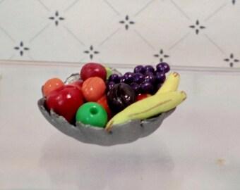 Fruit bowl dollhouse miniature